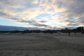 Evening walk on Studland Beach